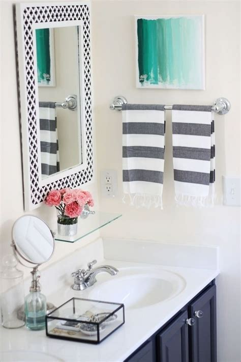 Grey & White Bathroom With A Splash Of Color Greypink And