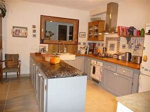 Recouvrir Plan De Travail Cuisine Adhesif : cuisine photo 1 4 faience desvres plan de travail ~ Farleysfitness.com Idées de Décoration