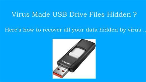 recover usb drive files hidden  virus   youtube