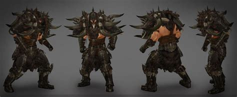 New Set 3 Art Wall Sticker 3d Decals Removable Mural Home: Diablo 3: Reaper Of Souls New Barbarian Armor Set Shown