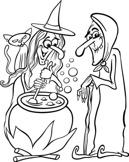 witch hazel pages coloring pages