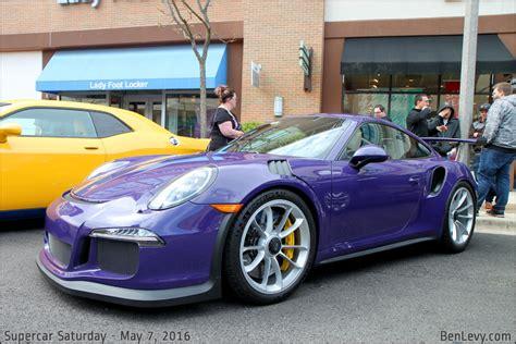 purple porsche  gt rs benlevycom