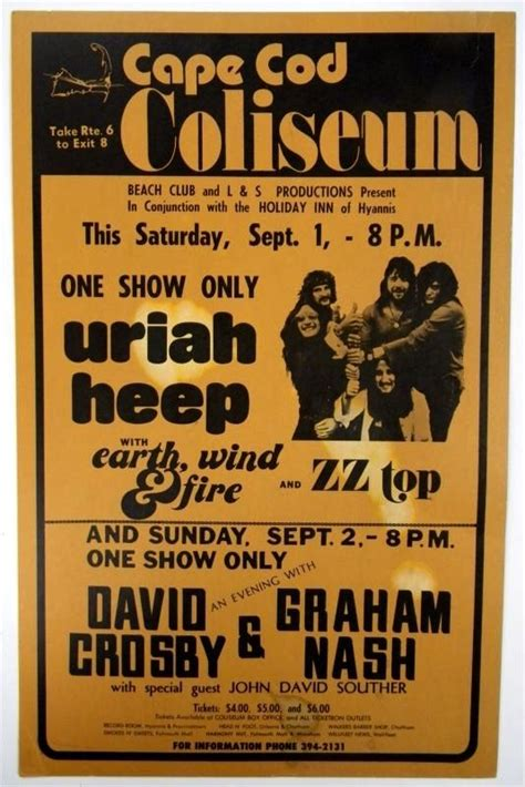 I Saw Many Great Concerts At The Cape Cod Coliseum!, Late