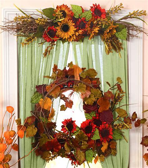 Autumn Floral Window Decor Window decor Diy decor