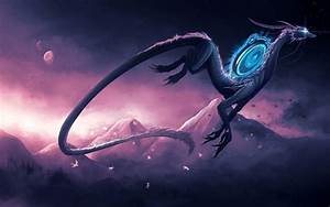 Pink, And, Purple, Dragon, Wallpapers