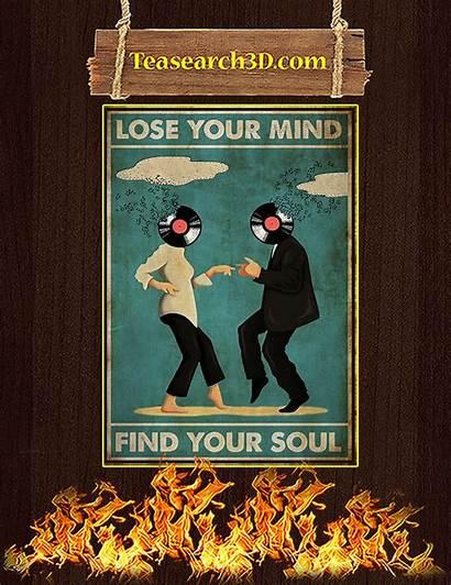 Soul Mind Lose Poster Pulp Fiction A3