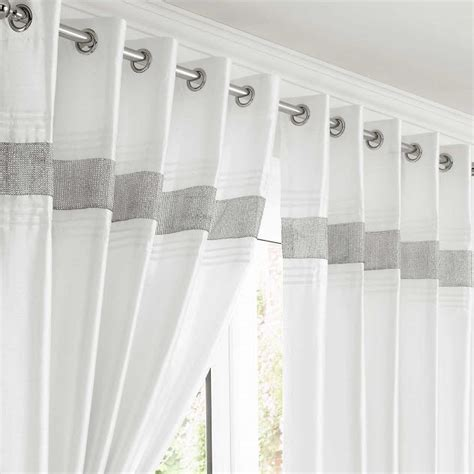 design kimberley white eyelet fully lined ready made curtains