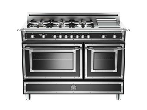 48 inch 6Burner + Griddle, Gas Double Oven Bertazzoni