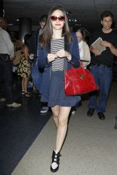 Emmy Rossum in Mini Skirt - LAX Airport in Los Angeles ...