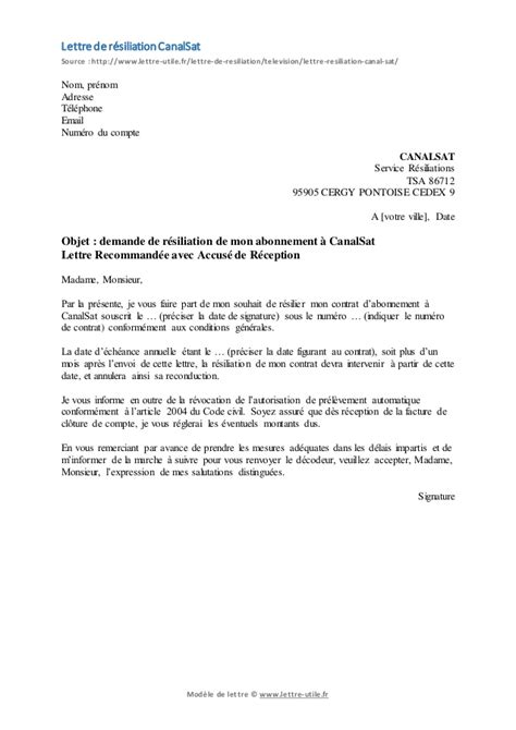 modele lettre resiliation marche document