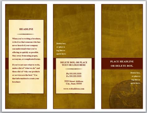 Free Three Fold Brochure Template by Tri Fold Brochure Template Three Fold Brochure Template