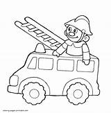 Coloring Truck Fire Pages Toy Printable Trucks Cars Boys Clipart Draw Toys sketch template