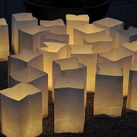 lanterne en papier unie blanche pour photophore ou bougie