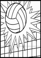 Volleyball Coloring Pages Ball Printable Sheets Cool Wecoloringpage Cheer Bible sketch template
