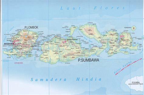 takjub indonesia peta propinsi nusa tenggara barat