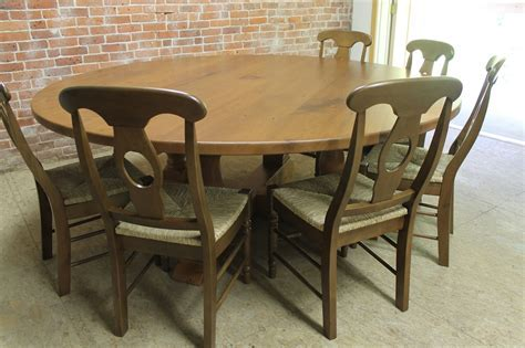 84 inch round dining table with Monterey Pedestal   Lake