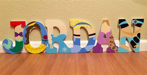 disney princess letter art hand painted wood letters