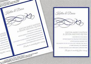 printable wedding invitation template download instantly With wedding invitation blank template royal blue