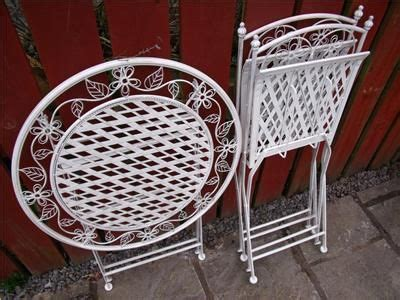 shabby chic childrens table and chairs garden furniture bistro set table and chairs patio shabby
