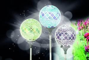 Gartenbeleuchtung Led Leuchten Garten : solar lampen garten kugeln solar leuchten kristall look ~ Michelbontemps.com Haus und Dekorationen