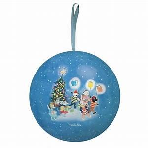 Boule De Noel Bleu : moulin roty large grand family christmas bauble blue ~ Teatrodelosmanantiales.com Idées de Décoration