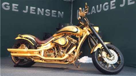 Dubai Displays Most Expensive Motorcycle Made From Gold