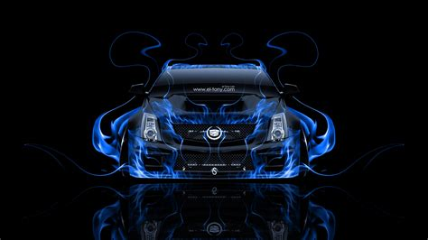 cadillac cts  hennessey tuning front fire car  el tony