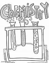 Coloring Binder Science Printable Chemistry Getcolorings Magnificent sketch template