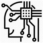Icon Smart Computer Technology Clipart Chips Human