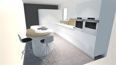 cuisine en et blanc une cuisine futuriste blanche à découvrir absolument