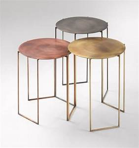 best 25 metal side table ideas on pinterest silver side With copper metal coffee table