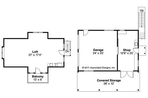 Floor Plans by Craftsman House Plans 2 Car Garage W Loft 20 077