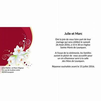 Mariage Carte Faire Fleuri Texte Cadeaux