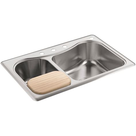 Kohler Staccato Dropin Stainless Steel 33 In 4hole