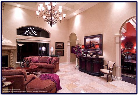 Picture Of Large Living Room With High Ceilings, Tile