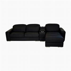 godrej interio acoustica l shape blk sofa leatherette 3 With l shaped sectional sofa in black leatherette