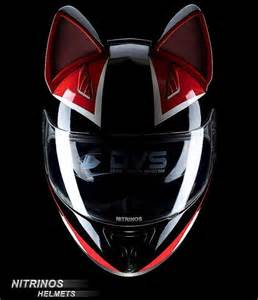motorcycle helmet with cat ears a helmet with cat ears for cat loving motorcyclists