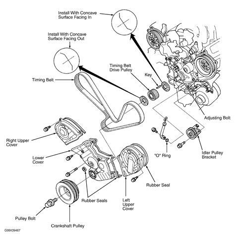 Acura Legend Motor Mount Diagram 1991 acura legend serpentine belt routing and timing belt