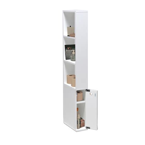 meuble cuisine 60 cm de large meuble de toilette en bois 1 porte 3 étagères alaska