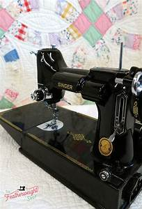 Singer Featherweight 221k Sewing Machine  Eh629     U2013 The