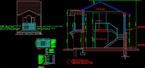 balcony details dwg detail  autocad designs cad