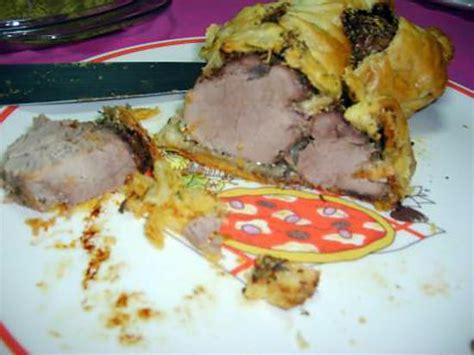 recette de mignon de porc en pate feuilletee