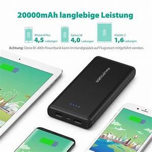 Powerbank Für Handy : 17 99 ravpower powerbank 20000mah externer akku 2 usb ~ Jslefanu.com Haus und Dekorationen