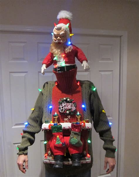 homemade ugly sweater ideas sweater diy stuck in the chimney 2012