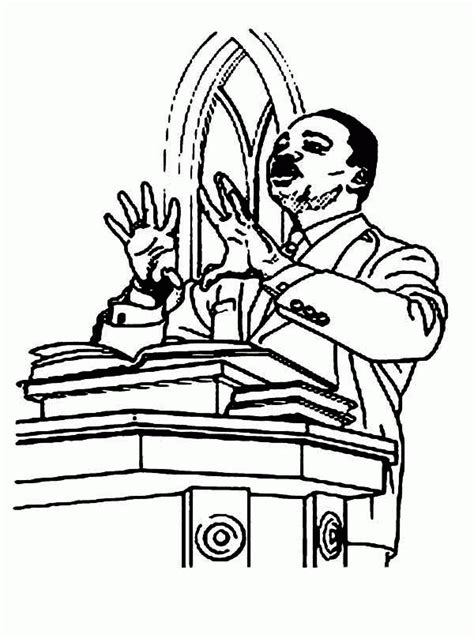 martin luther king coloring pages  coloring home