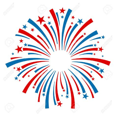 July 4th Clip Fireworks Clipart Vector Pencil And In Color Fireworks