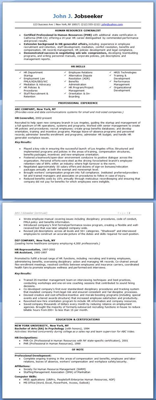 hr generalist resume exles resume downloads