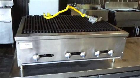 restaurant equipment stratus  burner gas grill