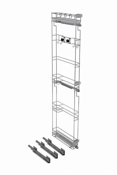 Broom Cabinet Pullout Rack Height Holder Filler
