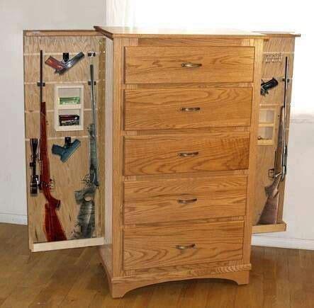 dresser gun cabinet hideaway man cave hidden gun